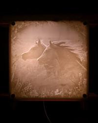 Светильник настенный «Ветер в гривах»